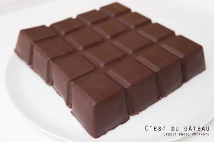Tablette de chocolat – Crousti-fondant Noir et Blanc-1 label
