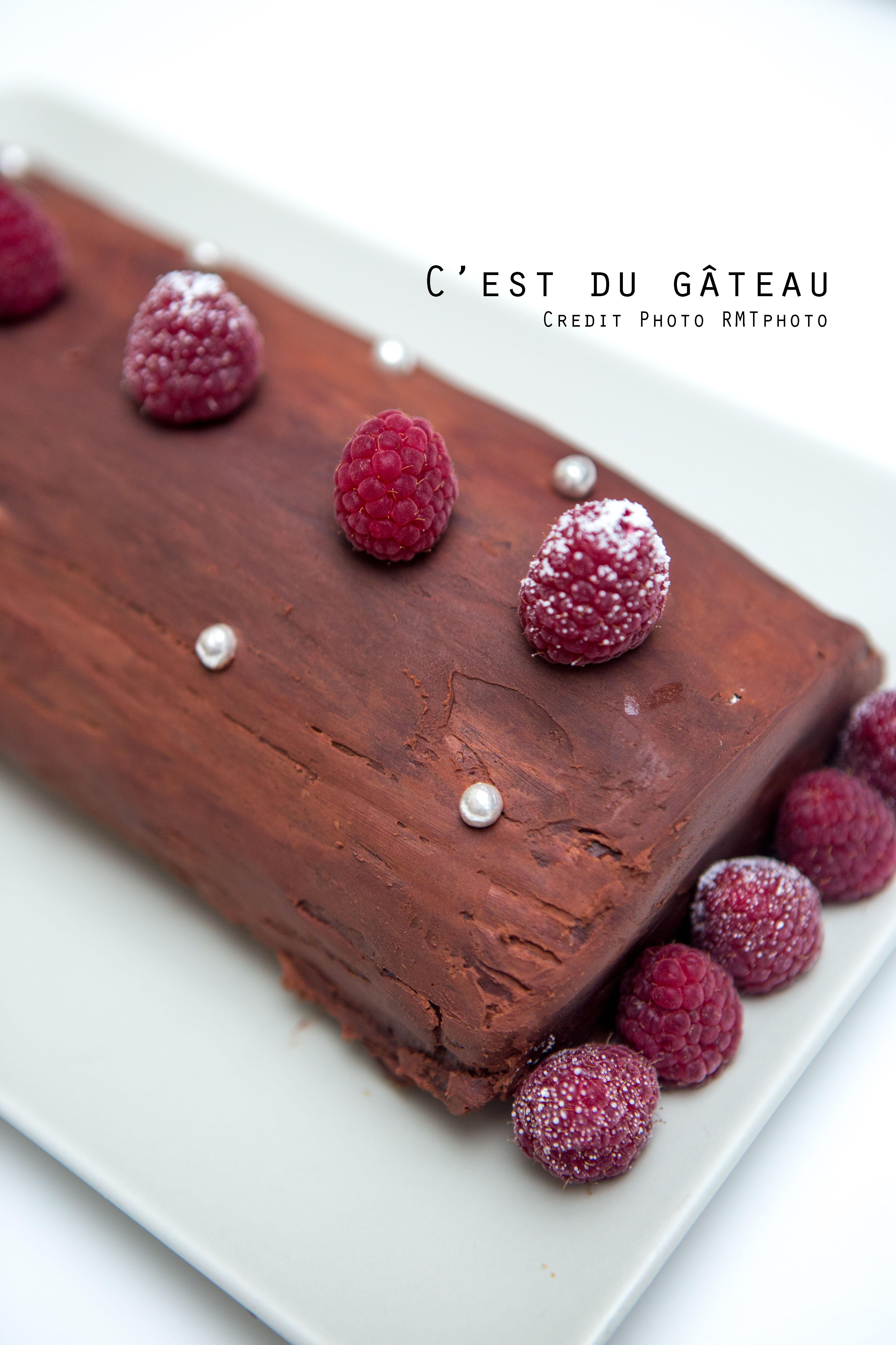Buche roulee framboise chocolat