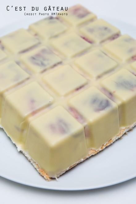 demarle, recette, moule tablette, framboise, citron vert, framboise, entremets, valrhona, ivoire, gâteau tablette, coco, chocolat blanc