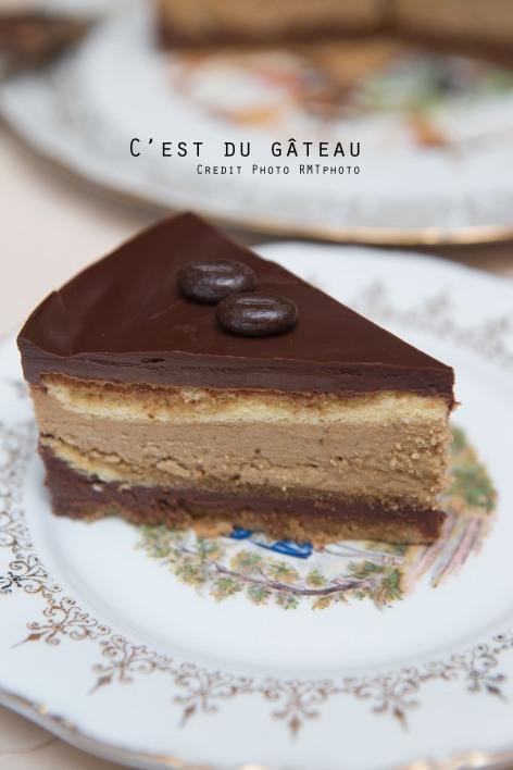 Opéra, crème au beurre, café, chocolat, biscuit à la cuillère, Éric Kayser, recette, entremets, dessert